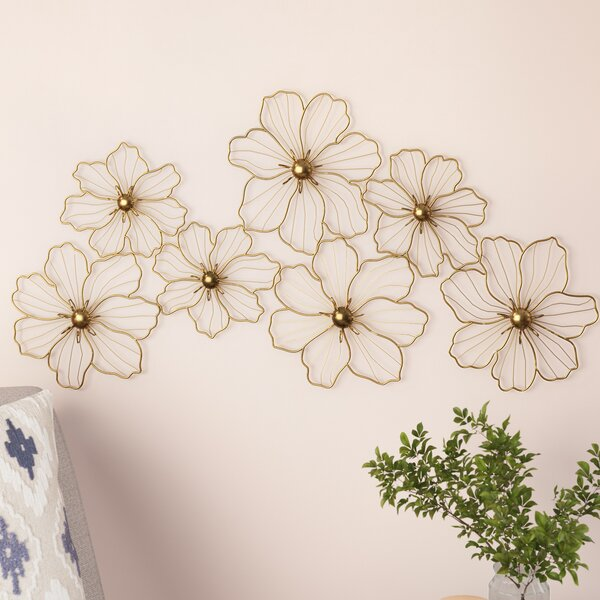 Flowers Metal Wall Decor by Latitude Run
