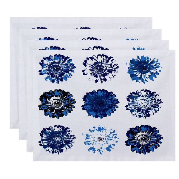 Luna Floral Print Placemat (Set of 4) by Latitude Run
