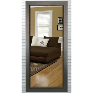 Berry Rectangle Dark Wood Beveled Wall Mirror By Orren Ellis