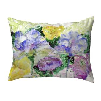 Betsy Drake Interiors Two Irises Indoor Outdoor Lumbar Pillow Wayfair