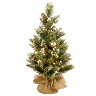 golden bristle 24 green artificial christmas tree with battery operated led lights