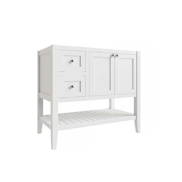Beachcrest Home Galveston 36 Left Drawer Single Bathroom Vanity Base Only Reviews Wayfair