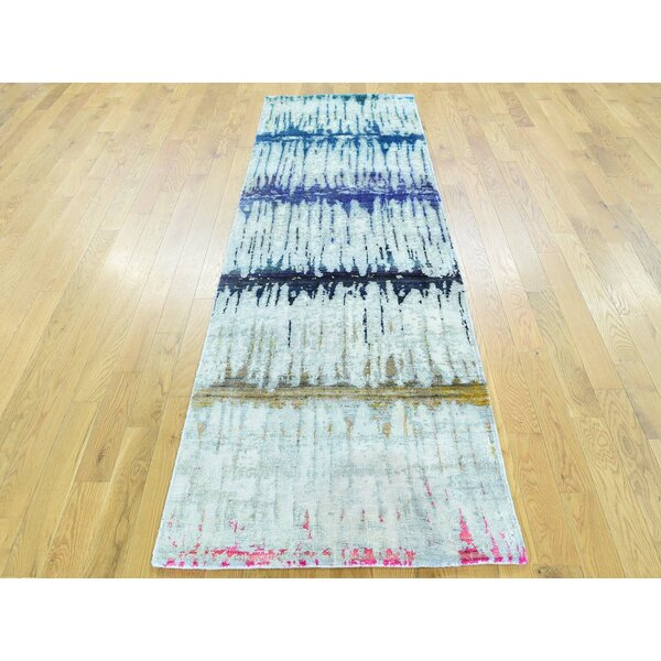 One-of-a-Kind Beatrix Handwoven Grey Wool Area Rug by Isabelline