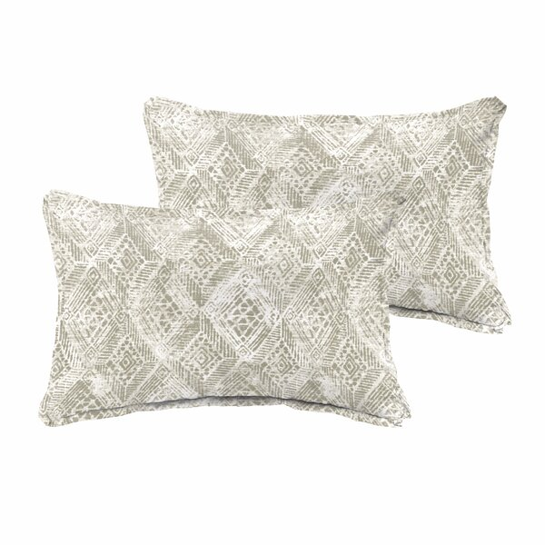 Caterina Indoor/Outdoor Rectangular Lumbar Pillow (Set of 2) by World Menagerie