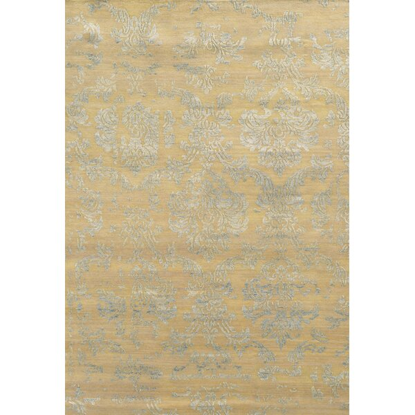Prince Hand-Knotted Beige/Gray Area Rug by Meridian Rugmakers