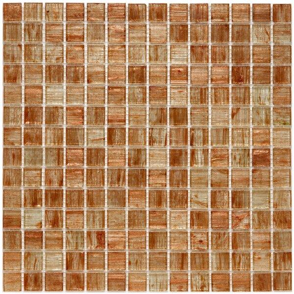 Fused 0.75 x 0.75 Glass Mosaic Tile in Orange by EliteTile