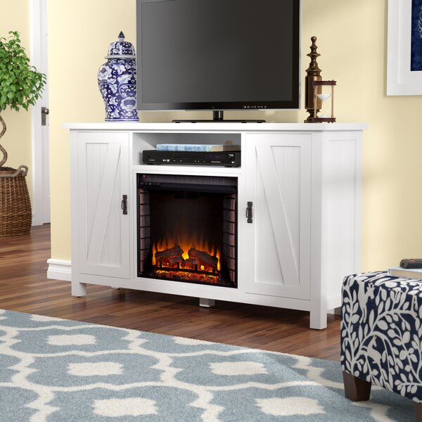 Cheswick 58 TV Stand with Infrared Electric Fireplace by Alcott Hill
