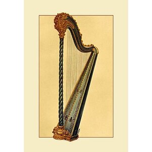 Pedal Harp by Theodore Thomas Painting Print by Buyenlarge