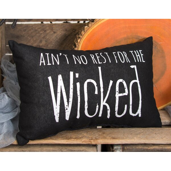 No Rest for the Wicked Halloween Lumbar Pillow by C&F Home