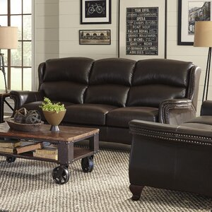 Exeter Leather Loveseat by Red Barrel Studio