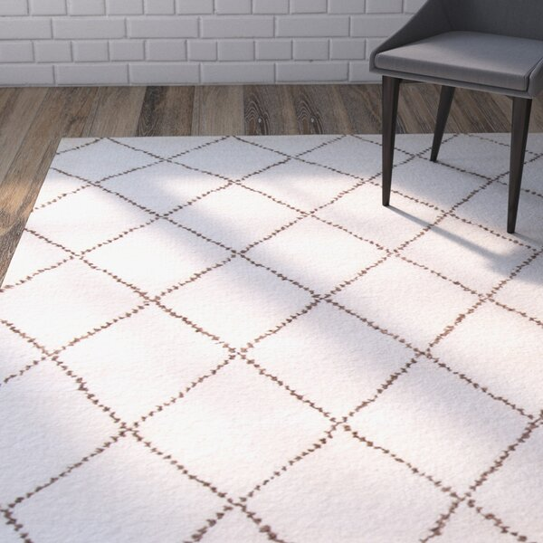 Brice Hand-Knotted Ivory Area Rug by Mercury Row