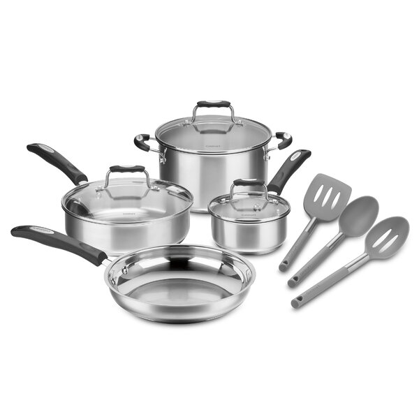 10 Piece Stainless Steel Cookware Set by Cuisinart