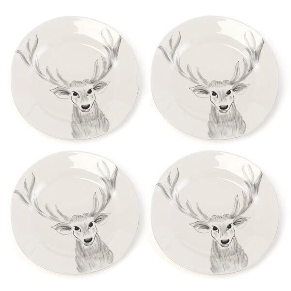 Snow Creek Deer Platter (Set of 4) by Loon Peak