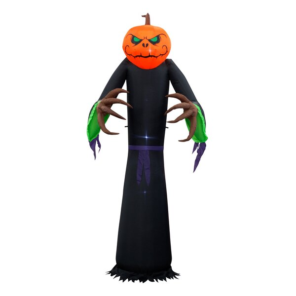 Halloween Pumpkin Face Inflatable by The Holiday Aisle
