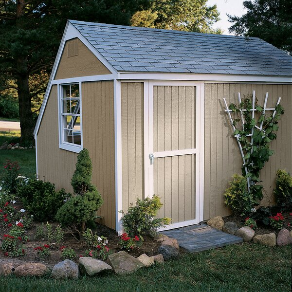 Solar 7 ft. 10 in. W x 10 ft. 6 in. D Wooden Storage Shed by Handy Home