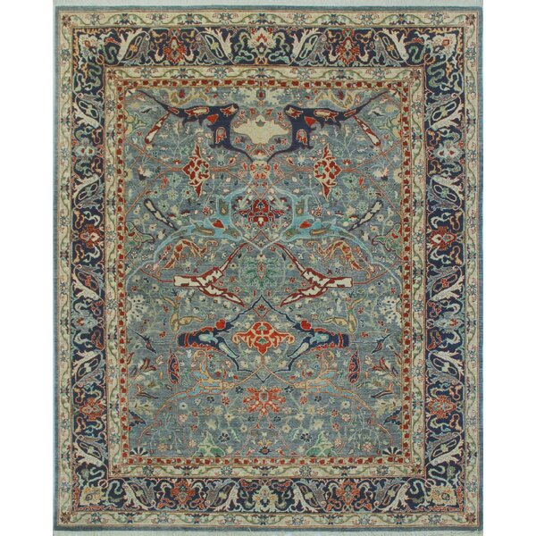 Woodmoor Chobi Hand Knotted Wool Gray Area Rug by Loon Peak