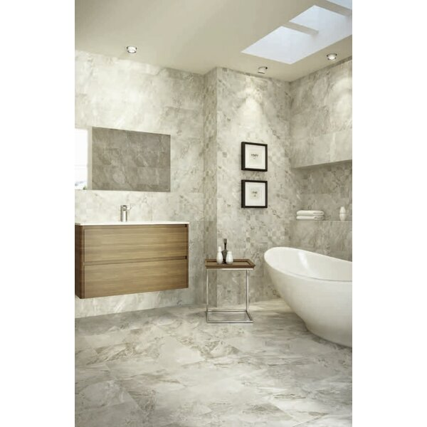 Ikema 12 x 24 Porcelain Field Tile in Blaco by Parvatile