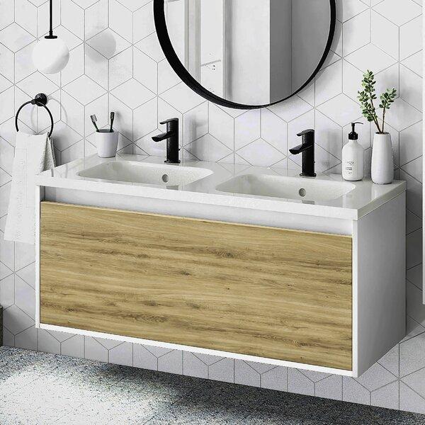Ludden 48 Wall-Mounted Single Bathroom Vanity Set