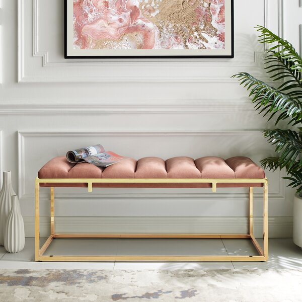 Kylen Upholstered Bench by Nicole Miller