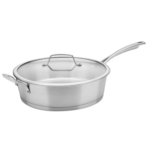 Conical 5 qt. Stainless Steel Induction Saute Pan with Lid by Cuisinart