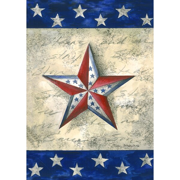 Stars On Star 2-Sided Garden flag by Toland Home Garden