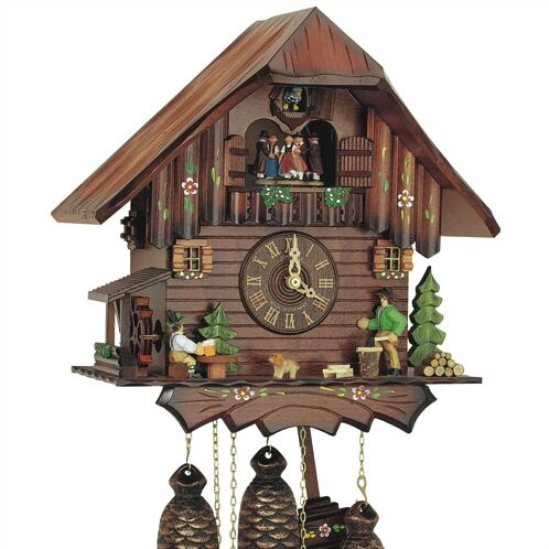 12.5 8-Day Movement Cuckoo Clock with Dancing Couples by Schneider