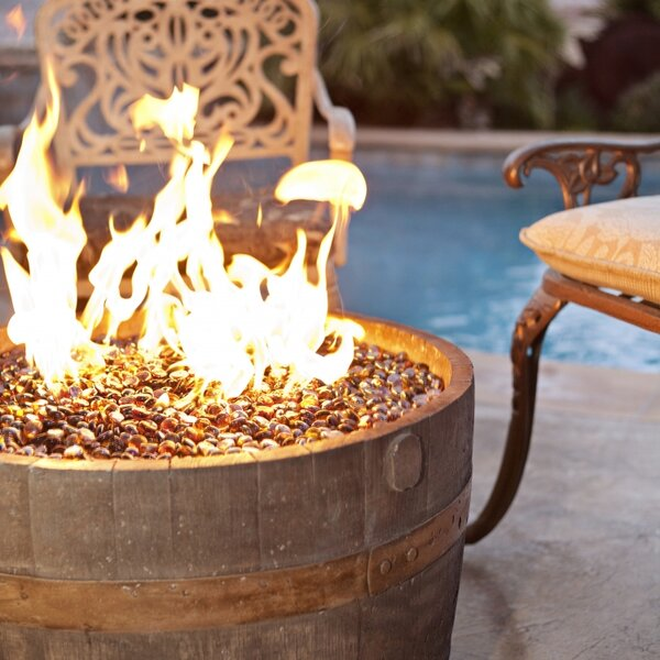 Cement Wine Barrel Fire Pit by Tretco