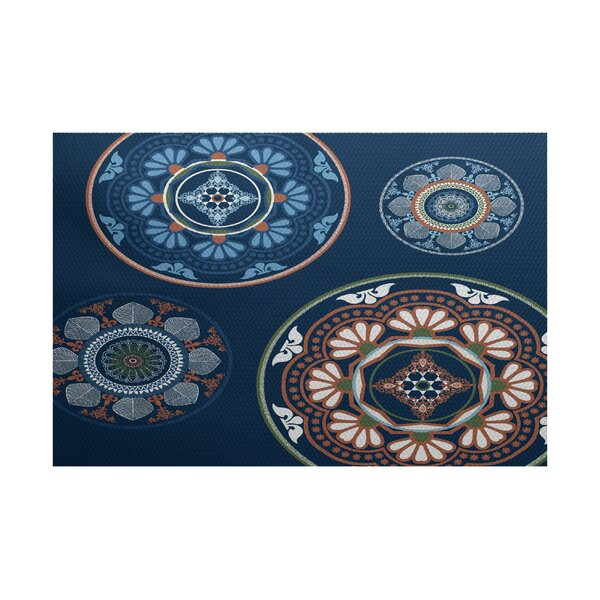 Soluri Blue Indoor/Outdoor Area Rug by Bungalow Rose