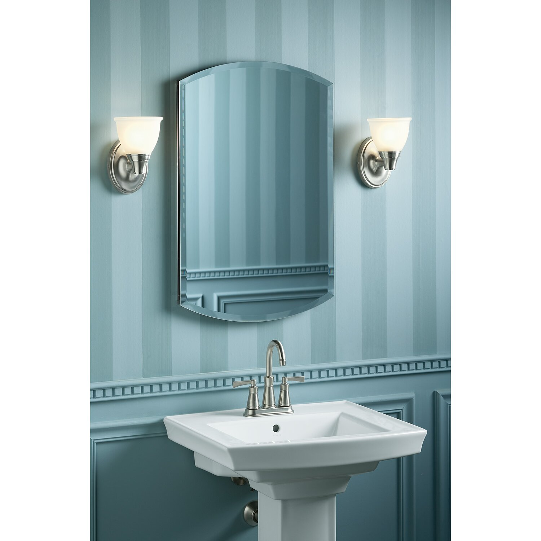 Wall mounted bathroom radio - Archer 20 X 31 Aluminum Wall Mount Medicine Cabinet With