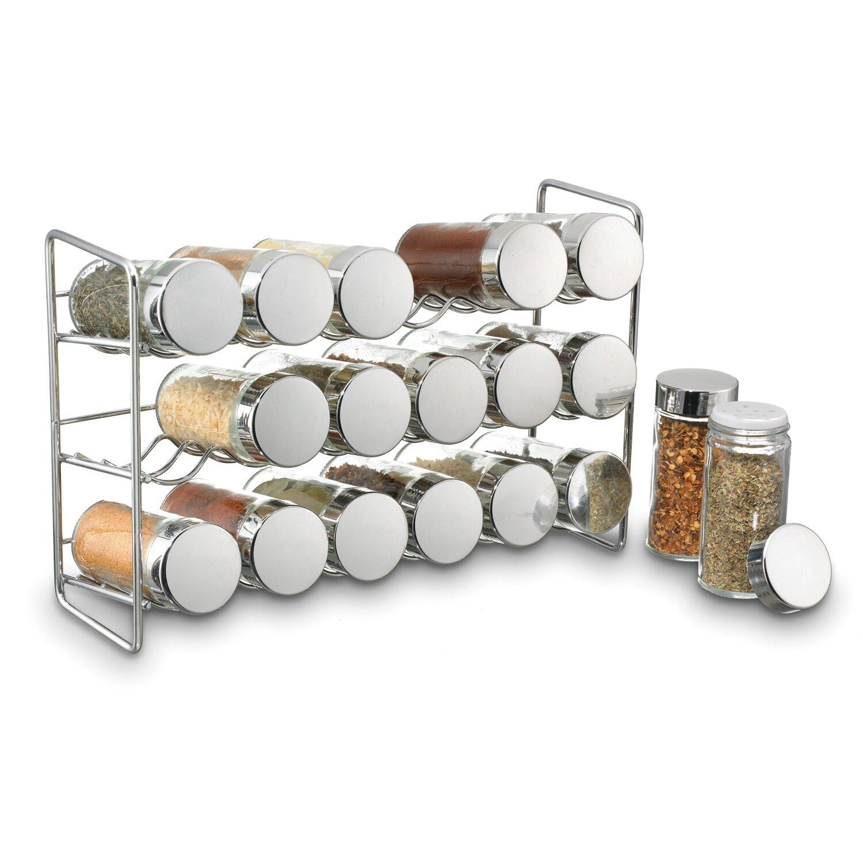 polder products llc compact 18 jar spice jar rack set reviews wayfair. Black Bedroom Furniture Sets. Home Design Ideas