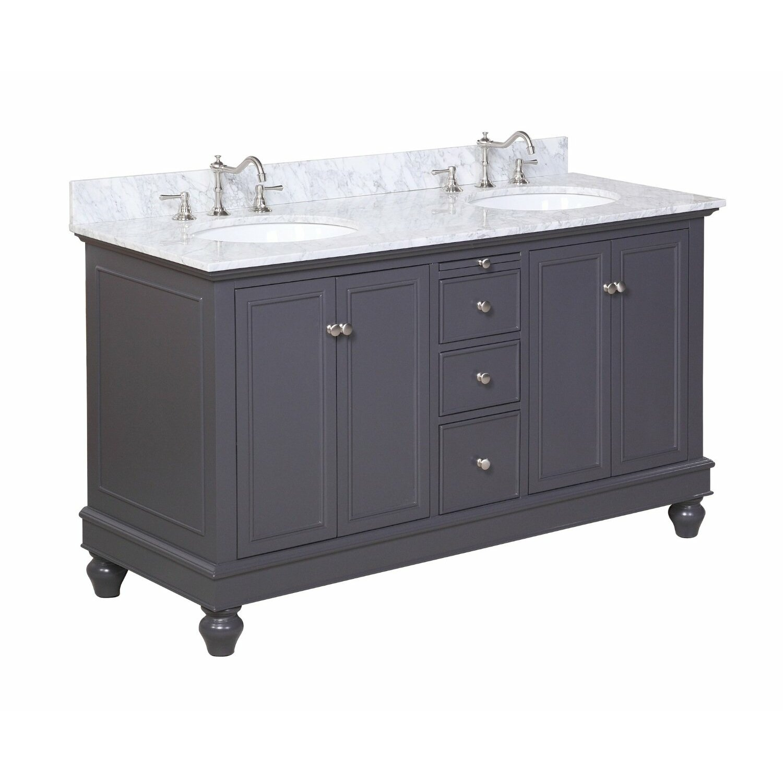 Double bathroom vanity - Bella 60 Double Bathroom Vanity Set