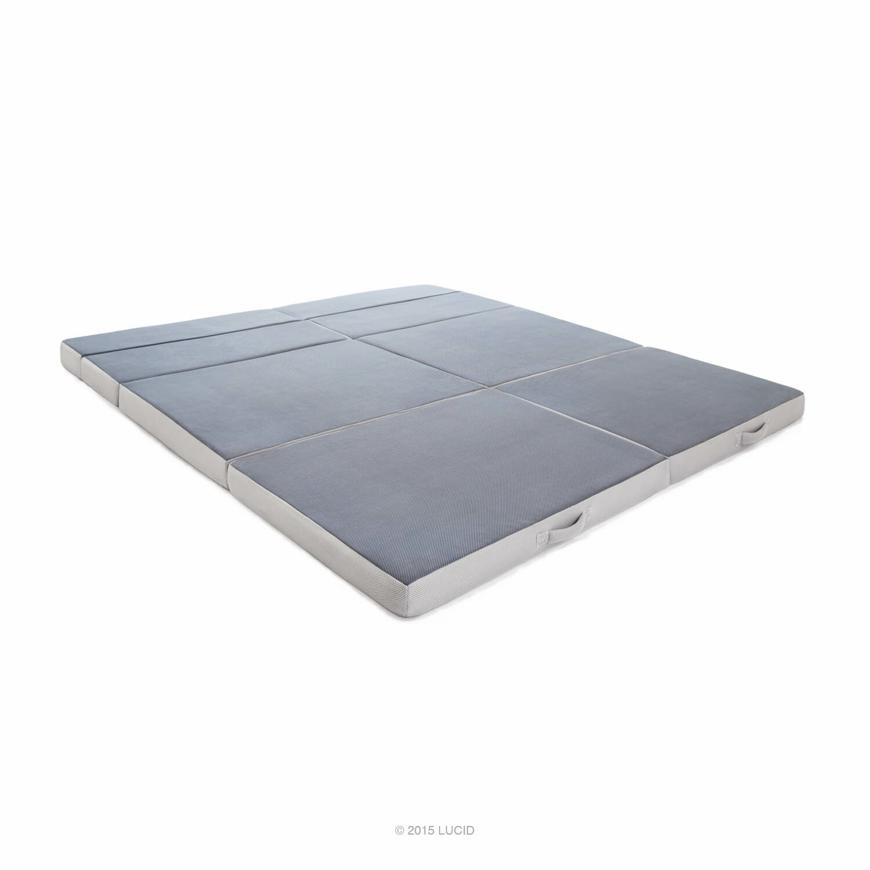 lucid folding 4 39 39 firm memory foam mattress reviews. Black Bedroom Furniture Sets. Home Design Ideas