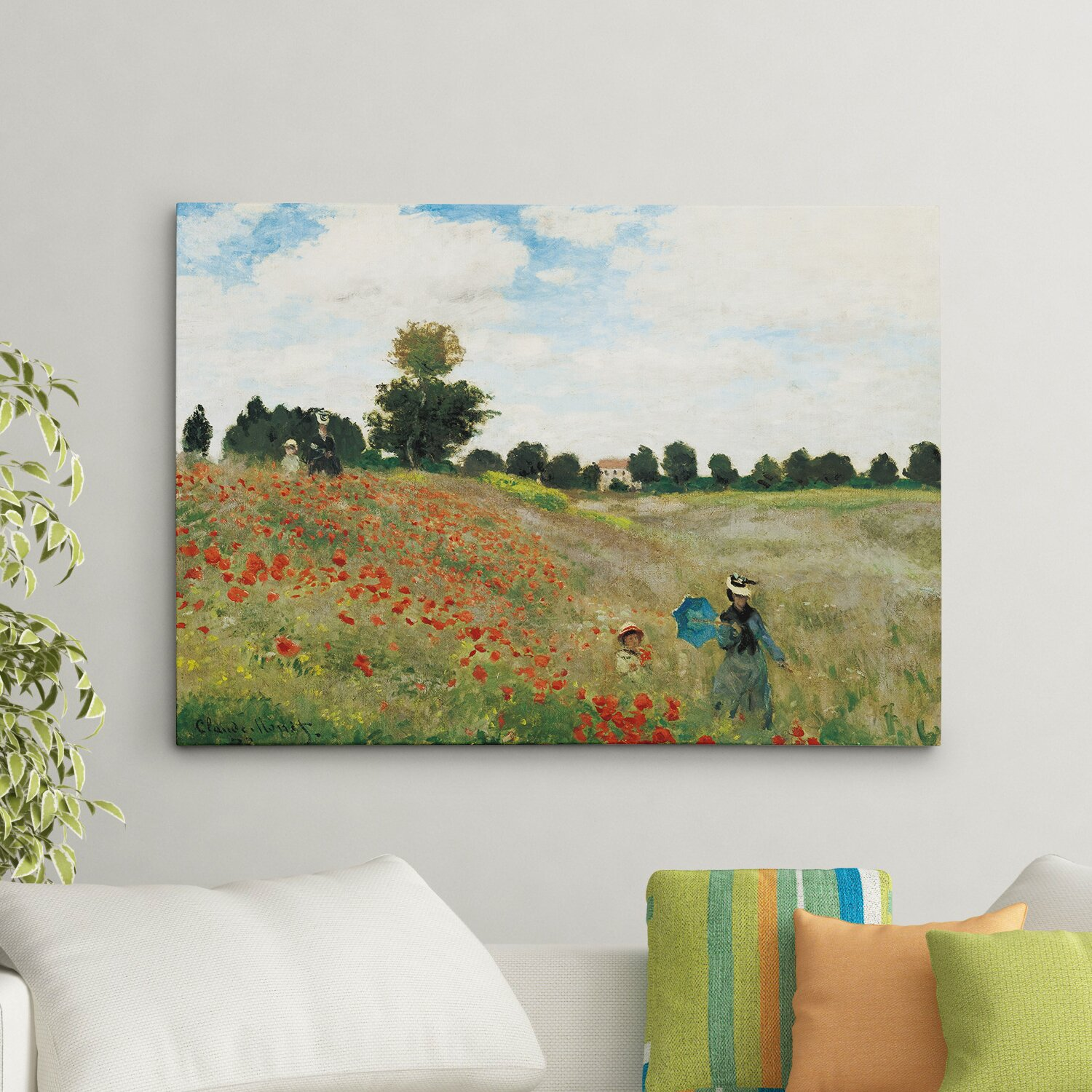 Wexfordhome Wild Poppies Near Argenteuil By Claude Monet