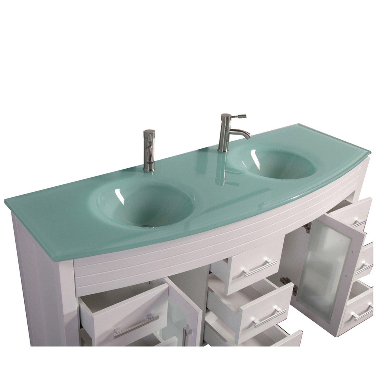 Mtdvanities figi 63 double sink bathroom vanity set with for Bath toilet and sink sets