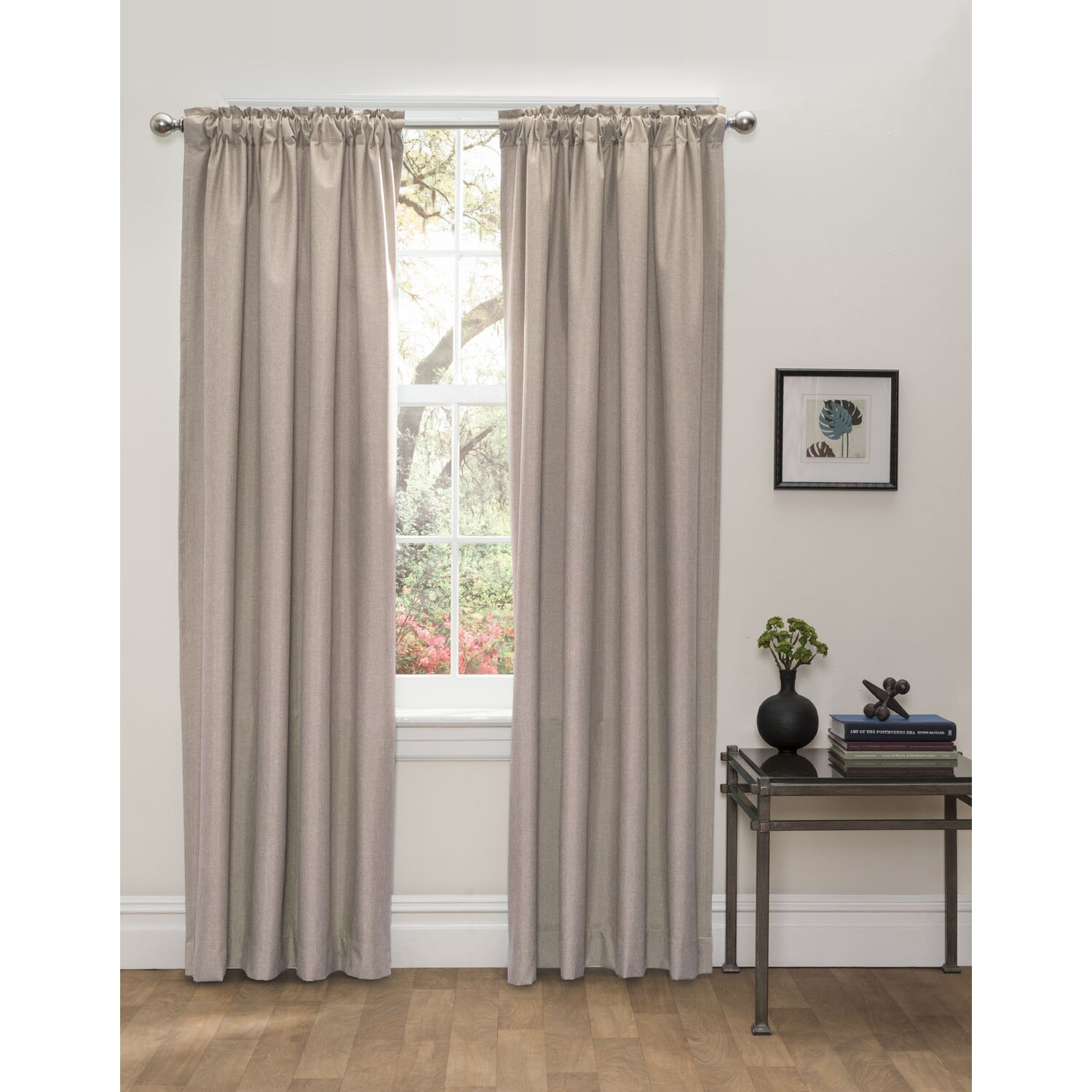 Hlc Me Olivia Solid Blackout Thermal Rod Pocket Curtain Panels Reviews Wayfair