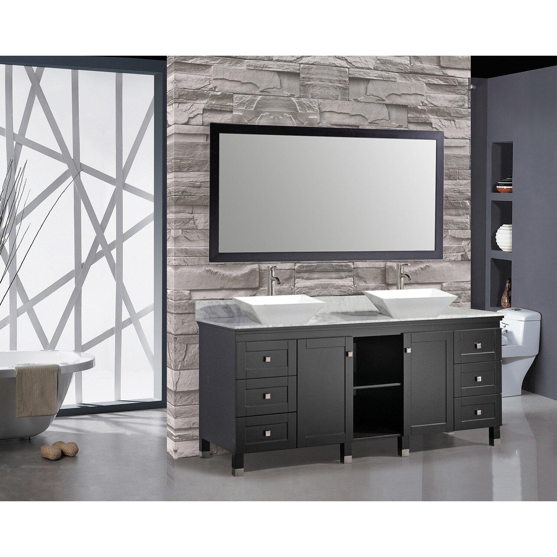"""MTDVanities Belarus 72"""" Double Sink Bathroom Vanity Set with Mirror &amp"""