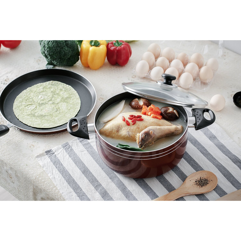 Major-Q Seemann 17 Piece Non-Stick Cookware Set & Reviews | Wayfair