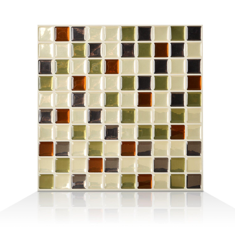 Smart Tiles Mosaic Idaho 9 85 Quot X 9 85 Quot Peel Amp Stick Wall