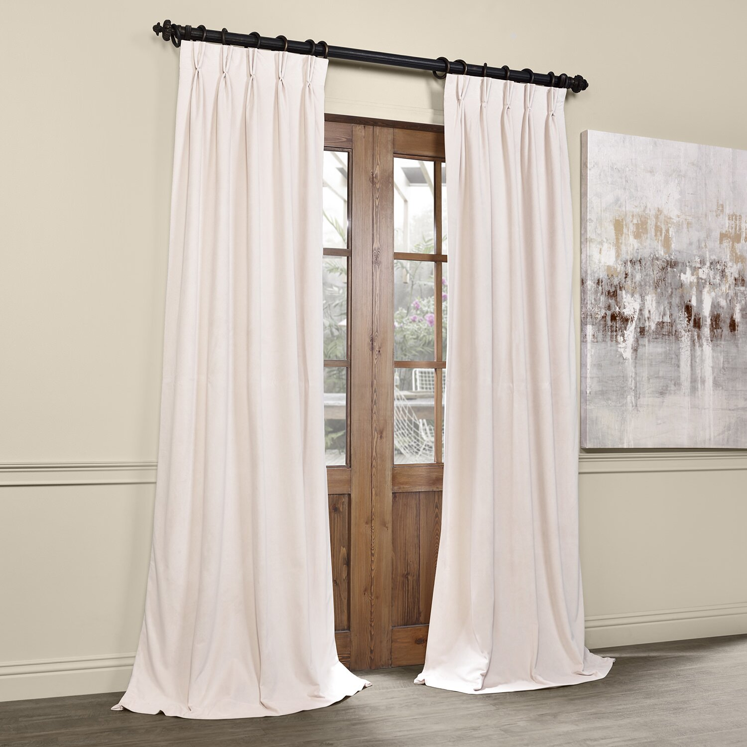 Balone Solid Blackout Thermal Pinch Pleat Single Curtain