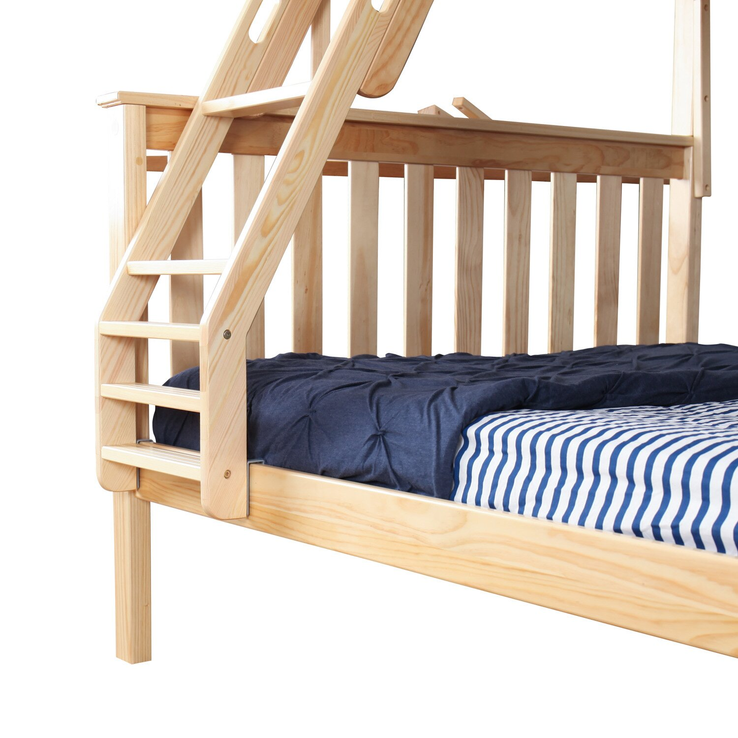 image of bunk beds with trundle bed frame