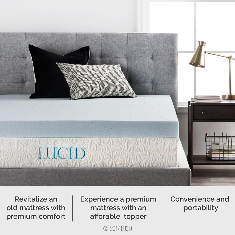 Lucid 4 Quot Memory Foam Mattress Topper Amp Reviews Wayfair