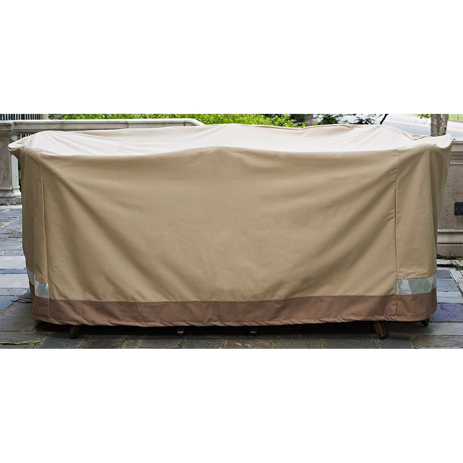 Freeport park oversized patio dining set cover wayfairca for Wayfair garden furniture covers