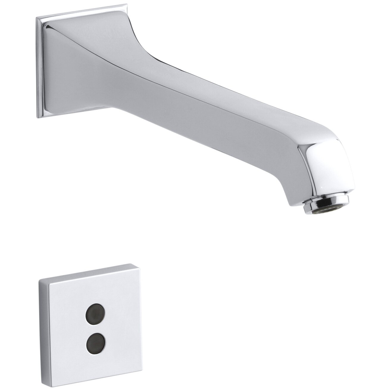 Memoirs Wall Mount Commercial Bathroom Sink Faucet With 8 3 16 Spout