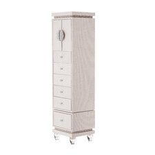 Glimmering Heights Upholstered Swivel 6 Drawer Lingerie Chest by Michael Amini (AICO)