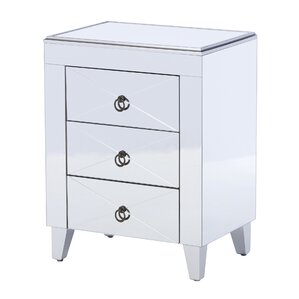 Antonia Mirrored Side Table