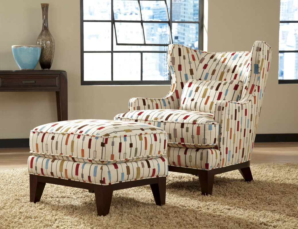 Wing chair with ottoman - Default_name