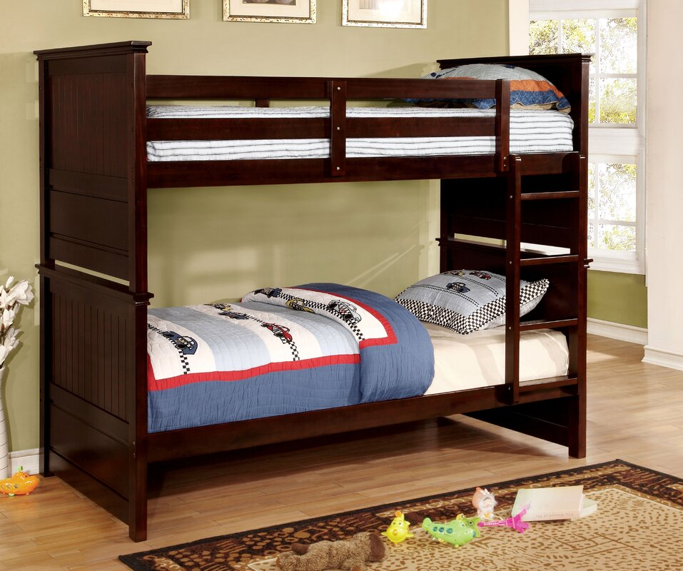 hokku designs camper twin bunk bed | wayfair