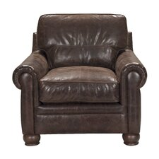 Quinton Top Grain Leather Armchair by 17 Stories