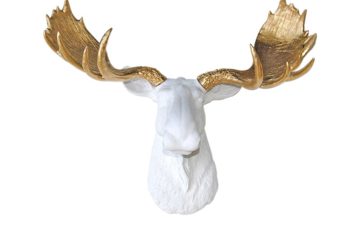 Near And Deer Head Faux Taxidermy Moose Wall Décor  Reviews Wayfair - Moose wall decor