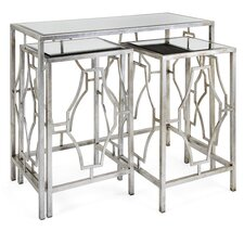 Giustino Mirror 3 Piece Nesting Tables by Willa Arlo Interiors